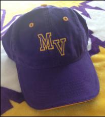 Purple Cap with Gold Detail, MV Logo Image